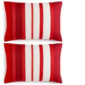 Martha Stewart Set of 2 Red Toss Throw Pillows NWT